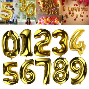 32 inch number foil balloon